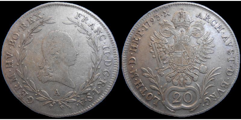 František II. 20 grajciar 1793 A