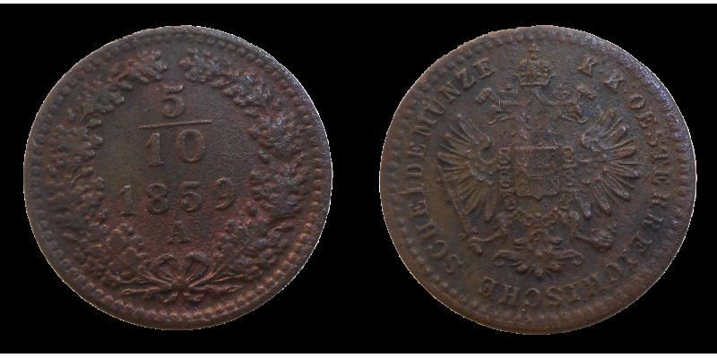 František Jozef I. 5/10 grajciar 1859 A