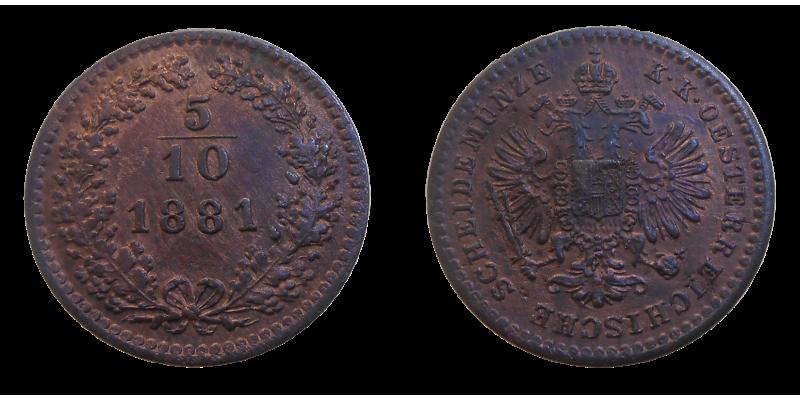 František Jozef I. 5/10 grajciar 1881 bz