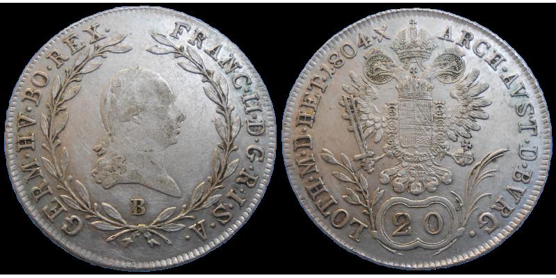 František II. 20 grajciar 1804 B