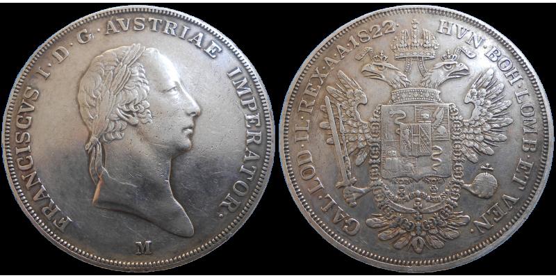 František II. 1 Scudo 1822 M