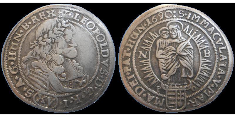 Leopold I. XV grajciar 1690 NB PO