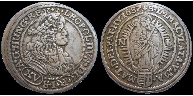 Leopold I. XV grajciar 1682 NB