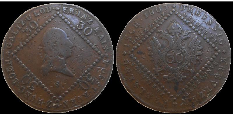 František II. 30 grajciar 1807 S