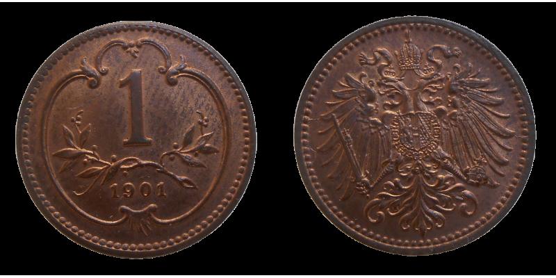 František Jozef I. 1 Heller 1901