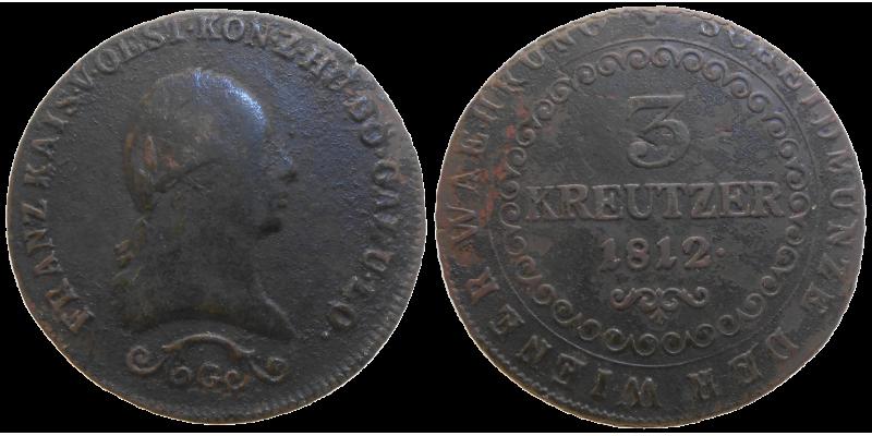 František II. 3 grajciar 1812 G