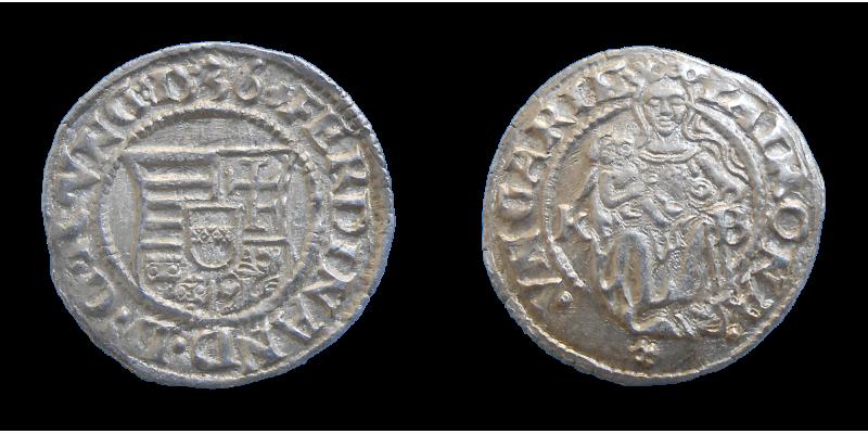 Ferdinand I. denár 1536 KB