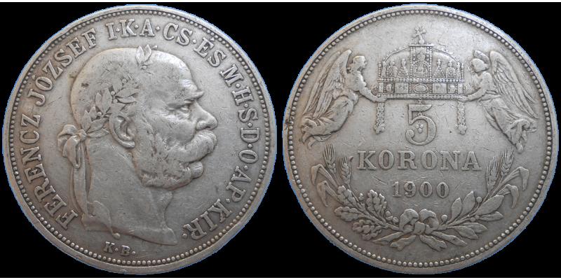 František Jozef I. 5 koruna 1900 KB