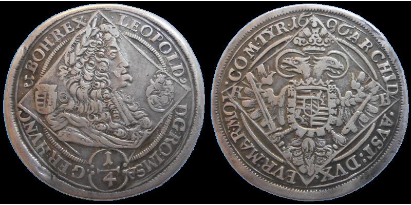Leopold I. 1/4 toliar 1696 KB