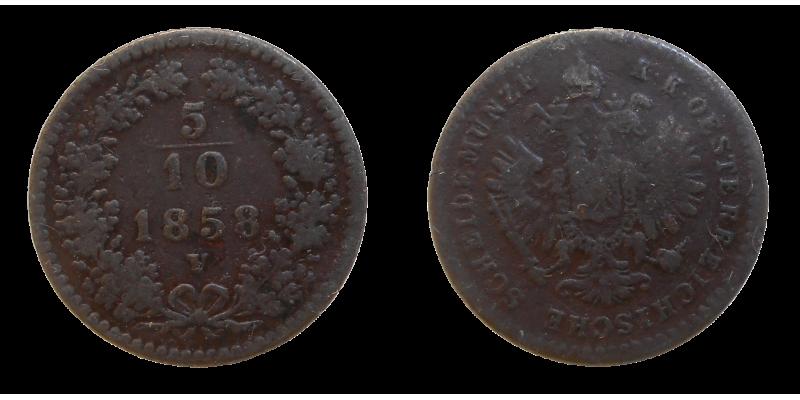 František Jozef I. 5/10 grajciar 1858 V