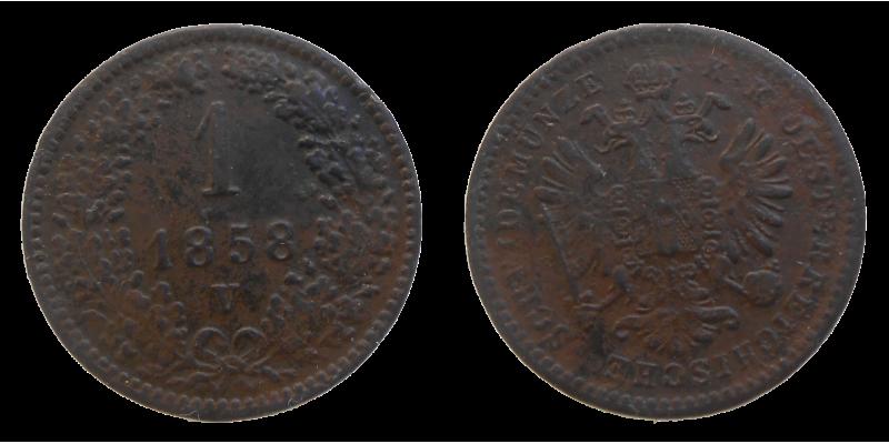 František Jozef I. 1 grajciar 1858 V
