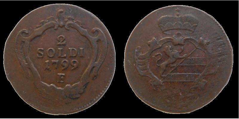 František II. 2 Soldi 1799 F
