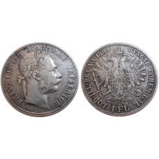 František Jozef I. 1 zlatník 1884 bz