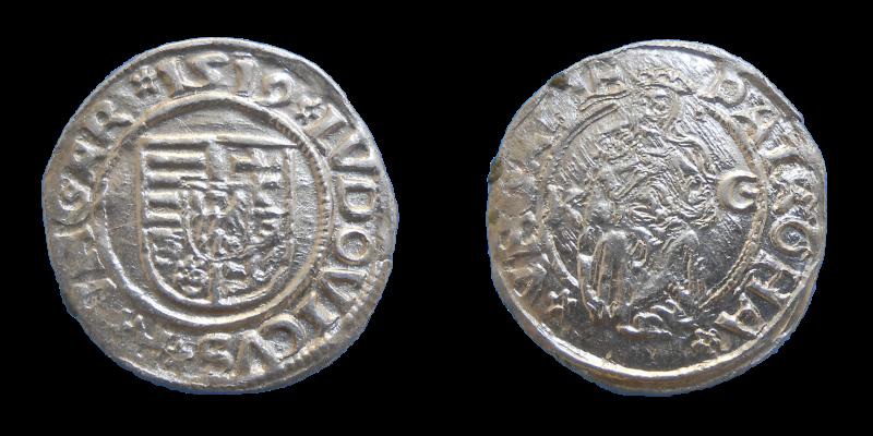 Ľudovít II. Jagelovský denár 1519 KG