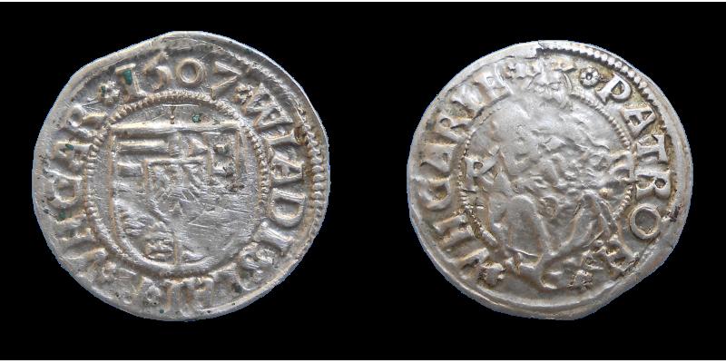 Vladislav II. Jagelovský denár 1507 KH