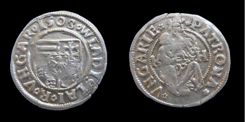 Vladislav II. Jagelovský denár 1508 KH