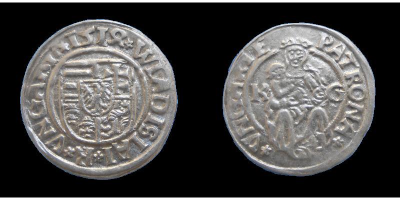 Vladislav II. Jagelovský denár 1514 KG