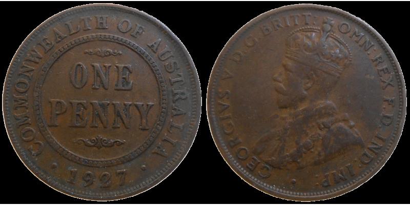 Australia One Penny 1927