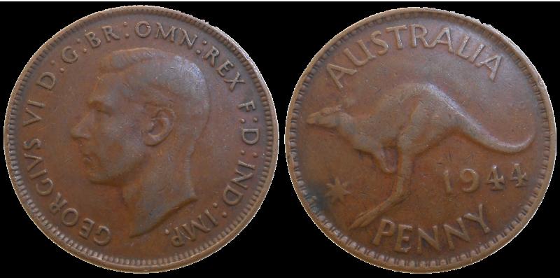 Australia One Penny 1944