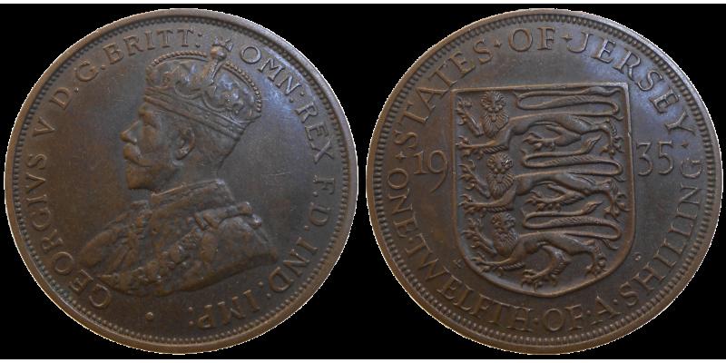 Jersey 1/12 schilling 1935