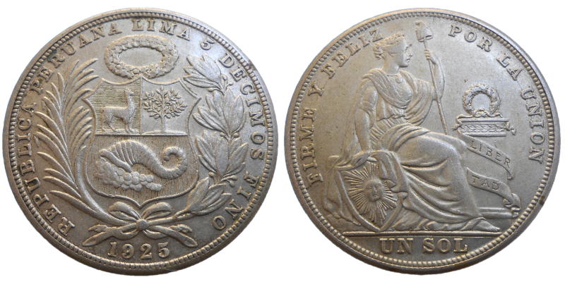 Peru 1 Sol 1925