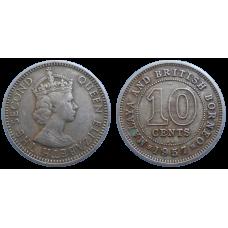 Britské Borneo 10 centov 1957
