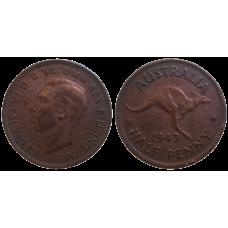 Australia Half Penny 1943