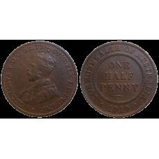 Australia Half Penny 1919