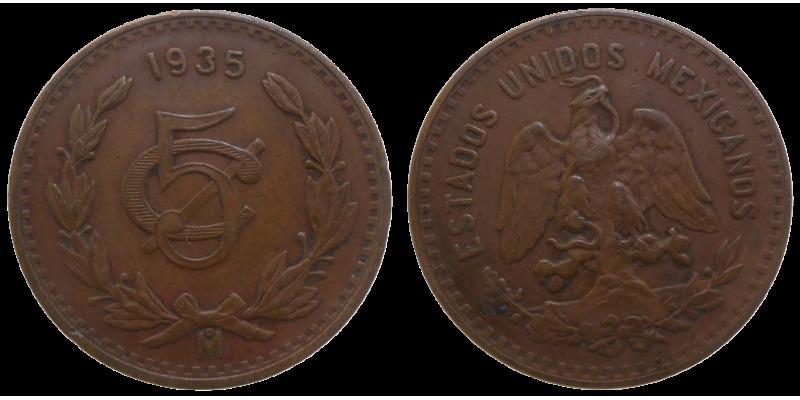 Mexiko 5 Centavos 1935