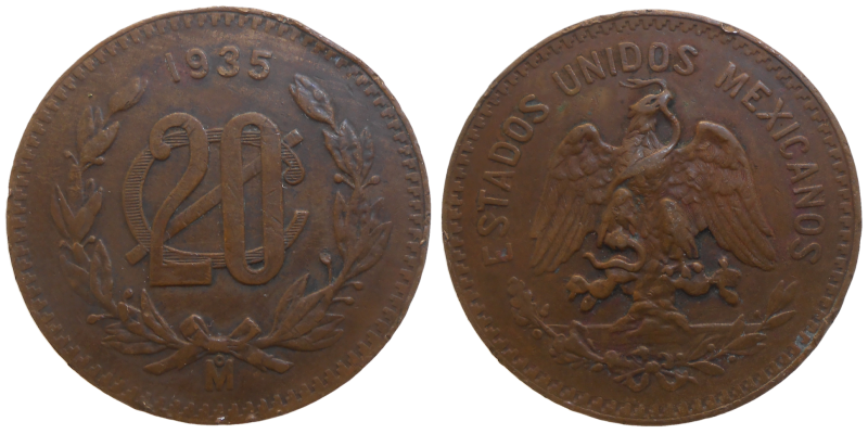Mexiko 20 Centavos 1935