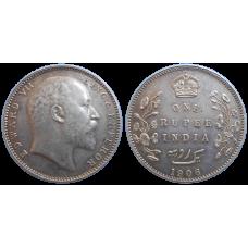 India 1 Rupee 1906