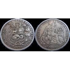 Peru 1 sol 1870