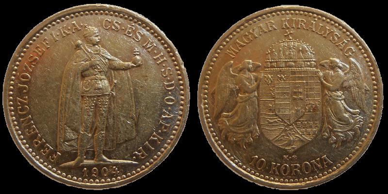 František Jozef I. 10 Koruna 1904 KB