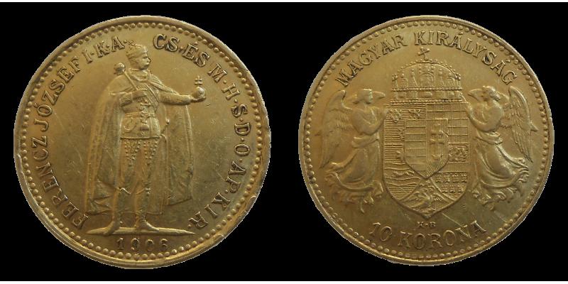 František Jozef I. 10 Koruna 1906 KB