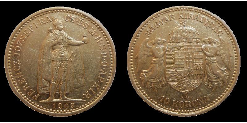 František Jozef I. 10 Koruna 1903 KB