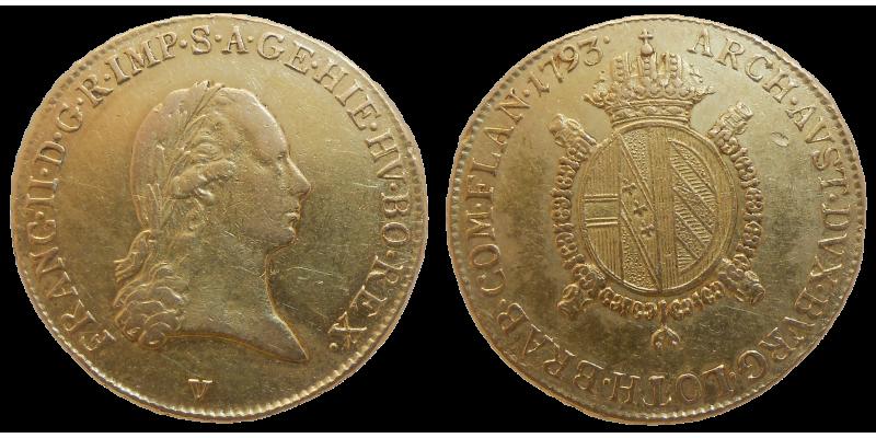 František II. 1/2 Sovrano 1793 V