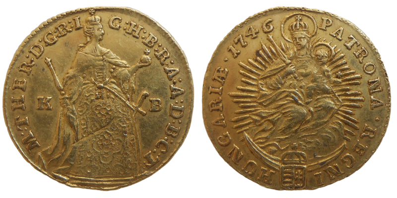 Mária Terézia dukát 1746 KB